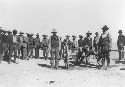 Group of Mexicans with cannon during the Mexican...