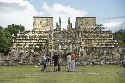 Tourists visit the ancient Mayan city of Chichen...