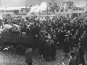 Hungarian citizens flee in response to the Soviet...