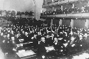 The League of Nations during its opening session...