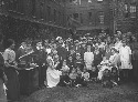 Belgian refugees at Kensington workhouse, July,...