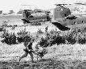 Helicopters pick up a rifle company from the...