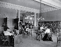 Adult reading room in the Carnegie Library of...
