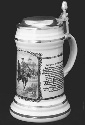 A Maßkrug (beer mug or stein), a tourist...