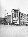 A huge poster of Joseph Stalin adorns a building...