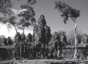 Ruins of a temple at Angkor Wat in Cambodia....