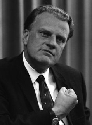 The evangelical reverend Billy Graham in 1966....