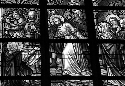 A stained glass window in Belgium shows Jesus...