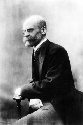 Portrait of Emile Durkheim, late-19th- and...