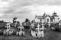 Russian Orthodox church and cemetery in...