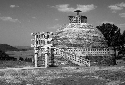 Buddhist stupa on a hill in Sanchi, India....