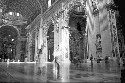 Interior of St. Peter's Basilica, Rome, Italy.