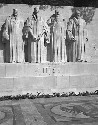 Statues of four Swiss reformers on the wall at...