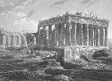 The Athenian acropolis, from a nineteenth-century...