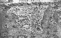Renaissance map of Constantinople, the city of...
