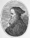 Engraving of the Greek philosopher and scientist...