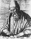 Copper engraving of the Alexandrian mathematician...