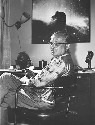 George Gamow in his apartment at the University...
