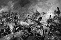 British and American forces clash at the Battle...