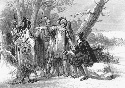 The Narragansett Indians protect British colonist...