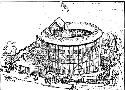 This drawing of the Rose Theatre as it looked...