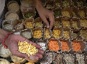 A wide variety of legumes at a market in...