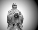 Statue of Confucius in the Temple of Confucius in...