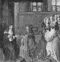 Abelard visits the cloistered Heloise. From a...