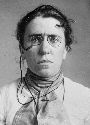 1901 mugshot of Emma Goldman taken after her...