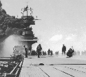 The U.S. aircraft carrier Yorktown (CV-5), shown...