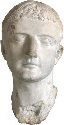 A bust of Tiberius, the Roman emperor from AD 14...