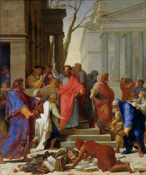 The Sermon of Saint Paul at Ephesus, oil on canvas by Eustache Le Sueur