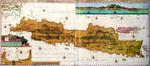 Insulae lavae, a large folding map of Java with two insets both depicting views of Batavia (Jakarta) Dutch, published by Gerard van Keulen, Amsterdam, c.1715 (coloured engraving)