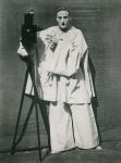 Portrait of Jean Charles Deburau (1829-73) as Pierrot, c.1850-60 (b/w photo)