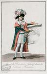 French Colonial Agent during the period of the Directoire, 1795-99 (colour engraving)