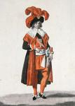 Minister during the period of the Directoire, 1795-99 (coloured engraving)