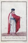 Member of the Council of the Five Hundred during the Directoire period, 1795-99 (coloured engraving)