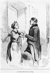 'M. Lecocq getting his rents', engraved by Charles Gilbert (19th century) illustration from the 'Revue Pittoresque', 1843 (engraving) (b/w photo)