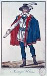 Official state messenger during the 'Directoire' period in France, from 'Costumes of the Representatives of the French People', engraved by Labrousse, 1790 (coloured engraving)