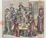 Martyrdom of Simon at Trent, after a woodcut in 'Liber Chronicarum Mundi', published Nuremburg, 1493 (woodcut)