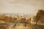 A View of London from Greenwich, (pencil and watercolour)