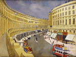 Regent Street, London, (oil on canvas)