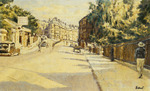 London Street, Bath, looking towards Walcot, c.1939 (oil on canvas)