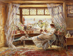 Reading by the Window, Hastings, 1880 ()