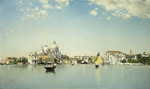 A View of Venice looking toward the Santa Maria Della Salute, (oil on canvas)