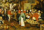 A Peasant Wedding Feast, 1630 (oil on panel)
