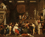 The Death of Cleopatra, (oil on canvas)