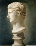 Bust of Caesar Augustus, c.1800 (oil on canvas)
