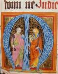 Historiated Initial 'M' with Saints Peter and Paul, from the Gradual of Friedrich Zollner of Langenzenn, 1439-42 (vellum)