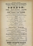 Playbill of the first performance of 'Oberon', by Carl Maria von Weber, in Convent Garden, London, April 12, 1826 (litho)